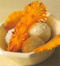 Ананасовые чипсы с мороженым