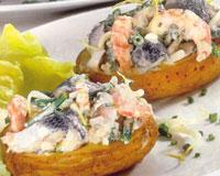Закуска морская с картофелем