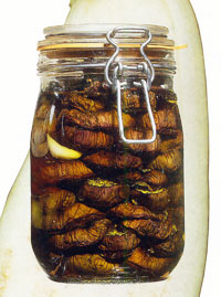 Баклажаны консервированные с зеленью и чесноком