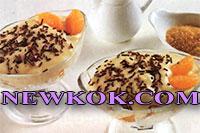 Пандоро (кулич, кекс или обычный бисквит) с мандаринами
