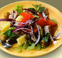 Салат из картофеля с оливками