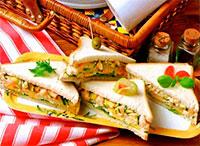 Бутерброды с кабачками и креветками