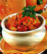 Суп-пюре из тыквы пряный