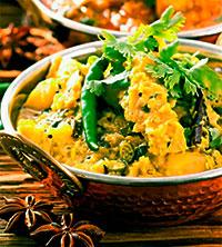 Рыбное карри с овощами