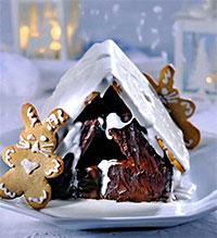 Шоколадный домик из печенья