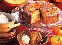 Пирог из тыквы с лимоном и миндалем