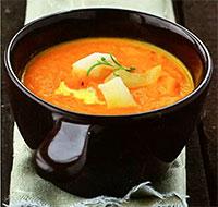 Суп-пюре морковный с имбирем (блюда с имбирем)