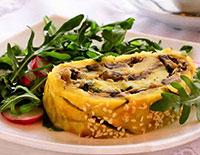 Рулет картофельный с грибами (постные блюда)