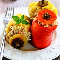 Перец фаршированный (постные блюда)