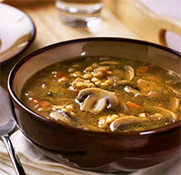 Суп грибной с перловкой (постные блюда)