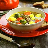 Суп из брюссельской капусты с фрикадельками (блюда из курицы)