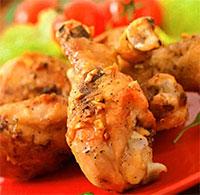 Куриные голени в кофейном маринаде (блюда из курицы)