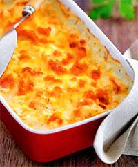 Картофельное пюре, запеченное с сыром и чесноком (рецепты из первых овощей)