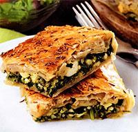 Пирог со шпинатом (греческая кухня)