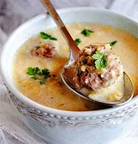 Суп  с фрикадельками (греческая кухня)