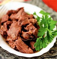 Свинина, тушенная в красном вине (греческая кухня)
