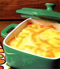 Творожно-апельсиновая запеканка (легкий завтрак)