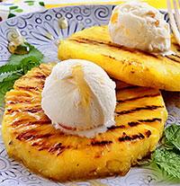 Мороженое с жареным ананасом (для снижения веса)