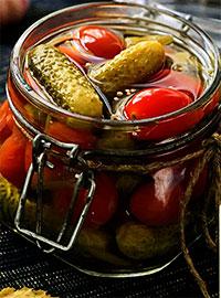 Ассорти из огурцов и помидоров (Заготовки на зиму)