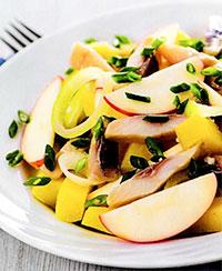 Салат с сельдью (рецепты приготовления рыбы)