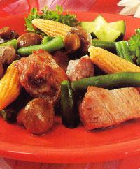 Жареная свинина с кукурузой - Коронное блюдо