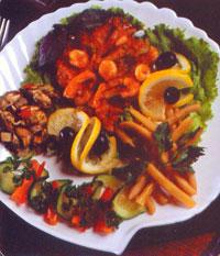 Горячий салат с креветками ГАВАНА