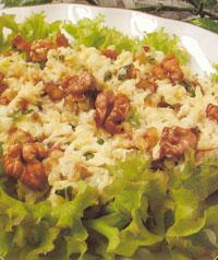 Салат с сыром и грецкими орехами