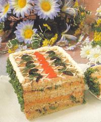 Бутербродный торт с паштетом