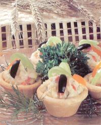 Салат Тарталетки с закуской