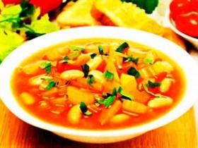 Суп постный с фасолью и сельдереем